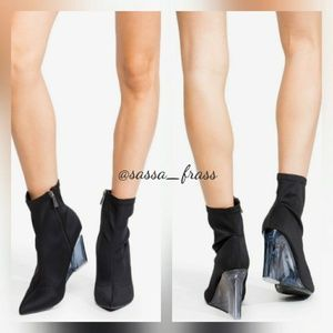 Shoes - Satin Booties,  NWT